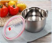 泡麵碗 帶蓋大號不銹鋼學生方便面碗帶柄防燙大容量湯碗飯碗 QG1781『優童屋』