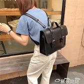 郵差包2021新款包包女郵差斜背包韓國百搭背包復古學院雙搭扣英倫側背包  雲朵 618購物