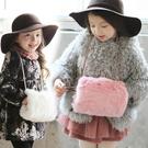 毛絨包包式暖手套 掛繩 手套 毛絨  橘魔法Baby magic 現貨 女童 保暖 寒流