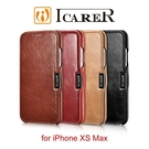 【愛瘋潮】ICARER 復古系列 iPhone XS Max 磁吸側掀 手工真皮皮套 側翻皮套 側掀皮套
