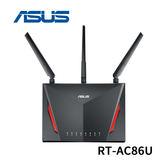 【限時下殺至7/19】ASUS 華碩 RT-AC86U AC2900 雙頻 搭載 MU-MIMO 技術 Gigabit 無線路由器