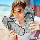 個性男士人字拖夏季時尚防滑戶外夾拖足球夾腳涼拖沙灘拖鞋