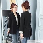 黑色西裝外套女春秋2020   英倫風氣質休閒短款小西服上衣女 新品