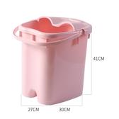 泡腳桶過小腿高深桶塑料兒童洗腳足浴盆加厚腳底按摩深桶 NMS