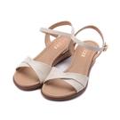 LUZZI 羊皮細繩楔型涼鞋 米 女鞋