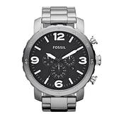 【Fossil】霸氣大錶徑時尚摩登鋼帶腕錶-霸氣銀/JR1353/台灣總代理公司貨享兩年保固