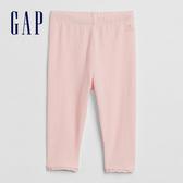 Gap嬰兒 柔軟蕾絲邊鬆緊內搭褲 948214-淺粉色