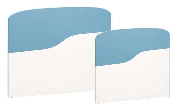 【森可家居】艾文斯3.5尺床頭片 8CM672-4 單人 藍色 白色 兒童