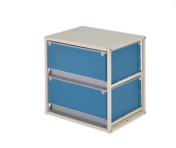 收納櫃 公文櫃 辦公收納 文件櫃 收納 收納盒【B0096】硬式紙二抽收納盒 MIT台灣製ac 完美主義