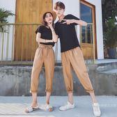 不一樣的氣質情侶裝夏裝2018新款韓製套裝寬鬆短袖T恤女 【快速出貨八五折鉅惠】