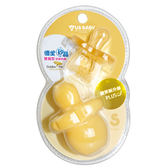 優生矽晶安撫奶嘴微笑新升級-雙扁S/L(橘) 『121婦嬰用品館』