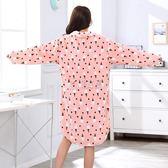 冬季女款睡衣 新款冬季女士卡通兔睡裙中長款睡衣長款大碼 俏女孩