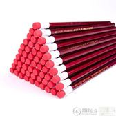 素描筆 原木鉛筆50支裝HB大皮頭鉛筆 無鉛毒小學生紅桿卡通大頭鉛筆 居優佳品