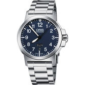 ORIS 豪利時 BC3 Advanced 日曆星期機械手錶-藍/42mm 0173576414165-0782203