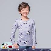 【WIWI】星辰米奇溫灸刷毛圓領發熱衣(銀河灰 童100-150)