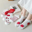 襪子-日系草莓精梳棉親膚中筒襪 聖誕襪 內搭 交換禮物 【AN SHOP】