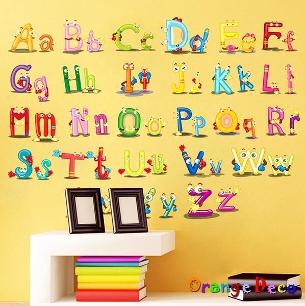壁貼【橘果設計】英文字母 DIY組合壁貼 牆貼 壁紙 室內設計 裝潢 無痕壁貼 佈置