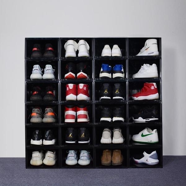鞋盒 球鞋收納盒 透明AJ籃球鞋鞋盒收藏展示鞋櫃球鞋收藏鞋墻防潮