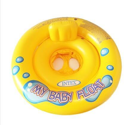 新生兒童腋下充氣坐脖加厚雙層游泳圈LVV871【kikikoko】