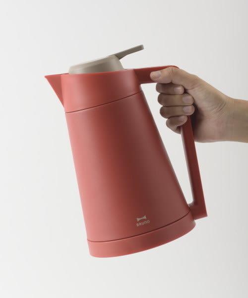 【京之物語】日本BRUNO DOUBLE WALL KETTLE 五階段溫度真空二重快煮壺 熱水壺 1.2L 紅色