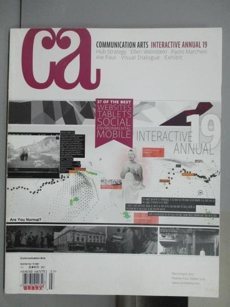 【書寶二手書T7/設計_PBG】Communication Art_391期_Interactive Annual 19