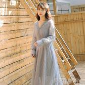 新品-蕾絲洋裝2019春裝新款仙女裙溫柔超仙很仙的流蘇雪紡蕾絲連身裙長裙女 【时尚新品】