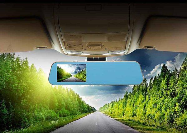 【YourShop】王牌4.3吋雙鏡頭後視鏡型行車紀錄器(F6) ~贈8G記憶卡 1080FHD 星光夜視~