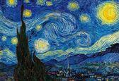 【拼圖總動員 PUZZLE STORY】星夜(作者:梵谷) 日本進口拼圖/Beverly/名畫/1000P/夜光