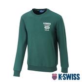 K-SWISS 1966 Sweatshirt圓領長袖上衣-男-綠