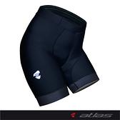 【亞特力士ATLAS】 女五分刷毛平口褲(二代) 12~18℃ WS-903-B(黑)