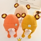 嬰幼兒童帽 寶寶帽子冬季可愛超萌韓版護耳帽嬰幼兒童秋冬天嬰兒毛線帽男女童 優拓