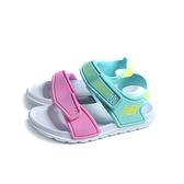 New Balance 涼鞋 運動型 魔鬼氈 白桃/藍色 童鞋 YOSPSDCY no956