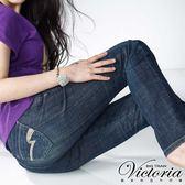 Victoria Victoria窄身靴型褲-女-灰綠