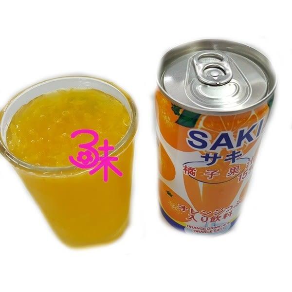 (韓國飲品)SAKI橘子果汁含果粒 1箱185mlx30罐【2019040913008】