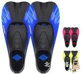 降價兩天-橡膠蛙鞋浮潛短腳蹼成人兒童潛水腳蹼硅膠游泳腳蹼潛水鞋潛水硅鞋