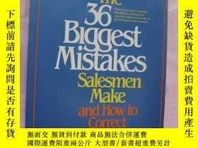 二手書博民逛書店銷售錯誤攻略罕見The 36 Biggest Mistakes