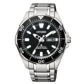 CITIZEN 星辰PROMASTER 黑藍海洋潛水運動流線腕錶/