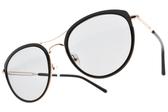 CARIN 太陽眼鏡 KATE C1 (黑-金-藍鏡片) 韓星秀智代言 雙槓造型貓眼款 # 金橘眼鏡