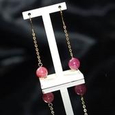 【喨喨飾品】天然紅寶石耳環 S338