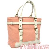 【 agnes b】agnes b.粉色手提包(白皮) AB058547