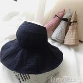 特賣遮陽帽帽子女夏天韓版百搭防紫外線遮陽帽戶外防曬大沿遮臉女士太陽帽夏