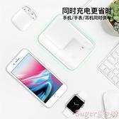 無線充電盤 iphone11無線充電器蘋果xsmax專用三合一充電支架iwatch5快充底座 suger
