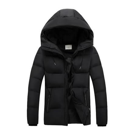[現貨] 質感加厚素色保暖修身雙帽防風連帽外套 黑深藍 有大尺碼【QZZZ7156】