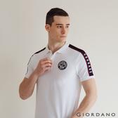 【GIORDANO】男裝UNION JACK POLO衫 - 10 標誌白