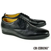 【CR CERINI】牛津紳士休閒鞋 黑色(54031-BL)