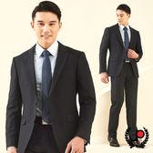 極品西服 低調品味暗條仿毛小劍領西裝_藍(AS638-3G)