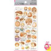 Hamee 日本製 大人的圖鑑 可愛動物 金箔和紙 造型貼紙 裝飾DIY (刺蝟觀察日記) KM07284