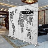 屏風隔斷時尚客廳簡約現代中式臥室布藝歐式房間辦公室復古牆折屏wy