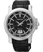 SEIKO 精工 Premier 羅馬主義大視窗時尚手錶-黑 6N76-00B0A