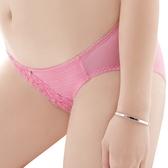 思薇爾-撩波系列M-XL蕾絲低腰三角褲(薔薇粉)